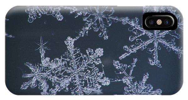 Winter iPhone Case - Frost Crystal On Glass Kodiak Isl by Marion Owen