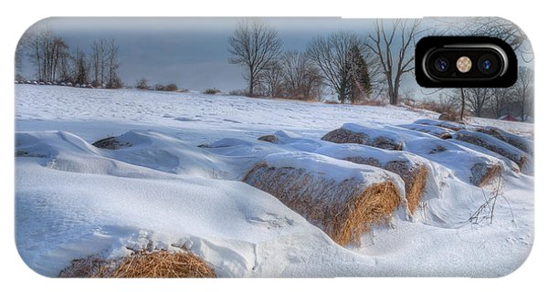 New England Barn iPhone Case - Frosted Wheat by Bill Wakeley