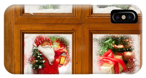 Frost Glass iPhone Case - Frosty Christmas Window by Amanda Elwell