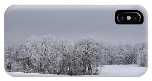 Frosty Farm Fields IPhone Case