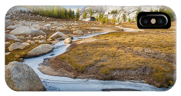 Alpine Meadows iPhone Case - Frozen Enchantments Creek by Inge Johnsson