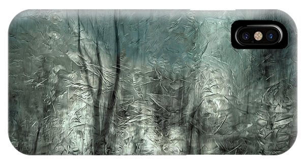 Frost iPhone Case - Frozen Frost Wood by Gilbert Claes