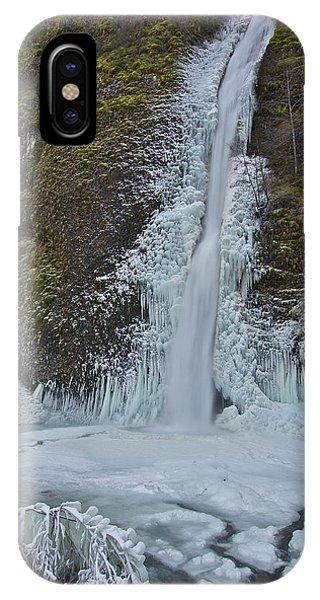 Frozen Horsetail Falls 120813a IPhone Case