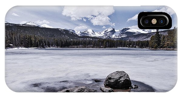 IPhone Case featuring the photograph Frozen Lake by Mae Wertz