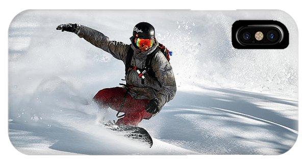 Action iPhone X Case - Frozen Moment by Jakob Sanne