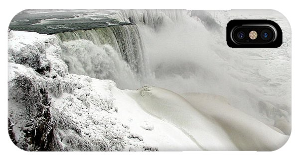 Frozen Niagara And Bridal Veil Falls IPhone Case