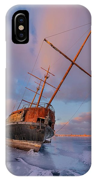 Wreck iPhone Case - Frozen by Richard Huang