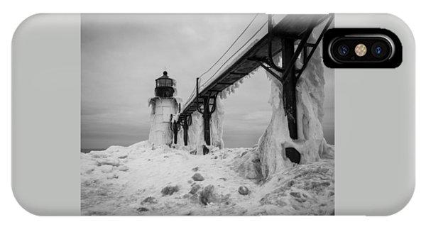 Frozen St. Joseph Lighthouse IPhone Case
