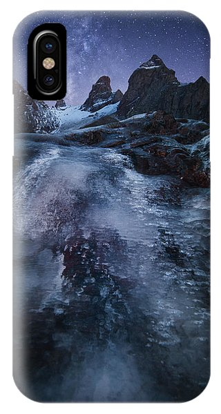 Night iPhone Case - Frozen Time by Chris Kaddas