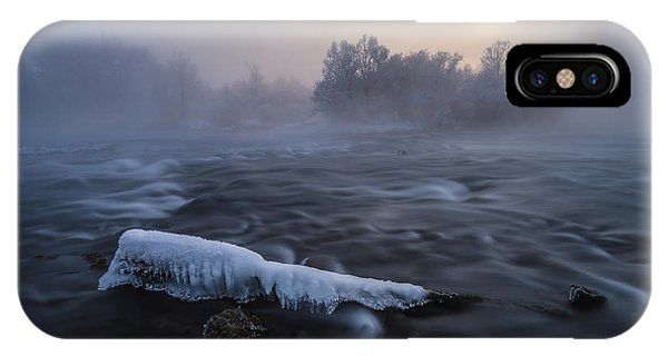 Flow iPhone Case - Frozen by Tom Meier