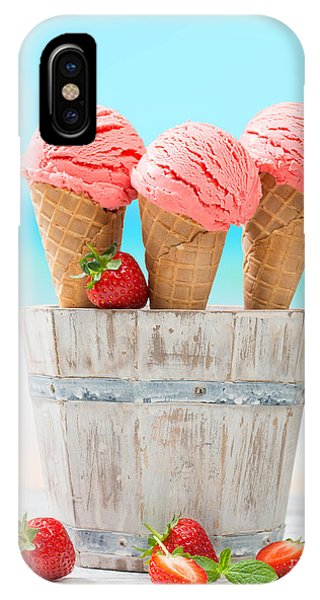 Cosmetic iPhone Case - Fruit Ice Cream by Amanda Elwell