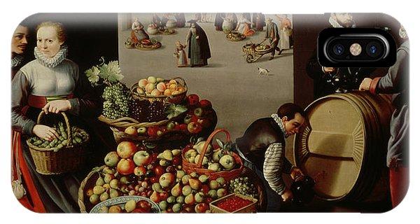 Lust iPhone Case - Fruit Market by Lucas van Valckenborch