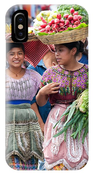 Lettuce iPhone Case - Fruit Sellers In Antigua Guatemala by David Smith