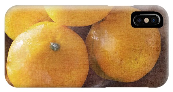 Fruit Still Life Oranges And Antique Silver IPhone Case