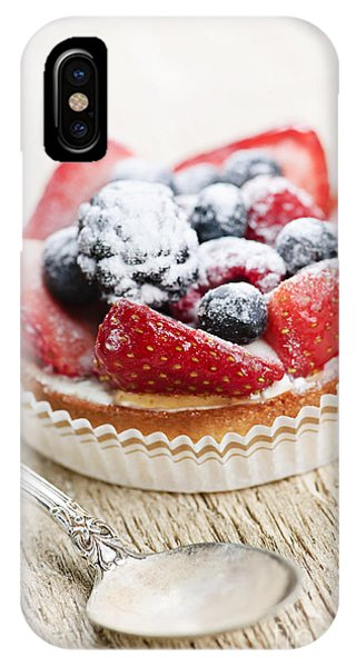 Fruit Tart With Spoon IPhone Case
