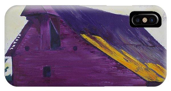 Purple iPhone Case - Fuchsia Barn by Kristin Whitney