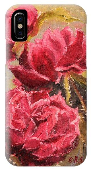 Fuchsia Peonies IPhone Case