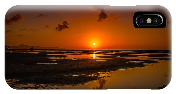 Fuerteventuera Beach Sunrise Reflections IPhone Case
