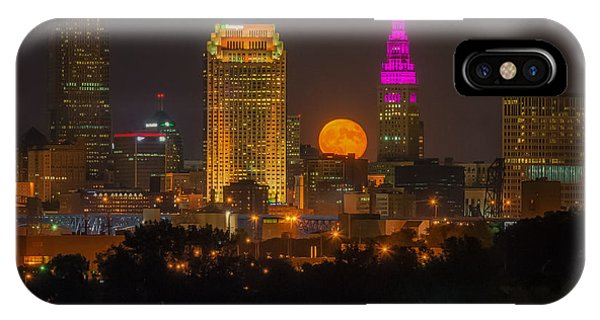Full Hunter Moon Over Cleveland IPhone Case