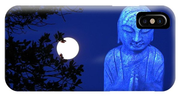Full Moon Buddha IPhone Case