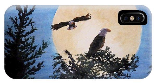 Full Moon Eagle Flight IPhone Case
