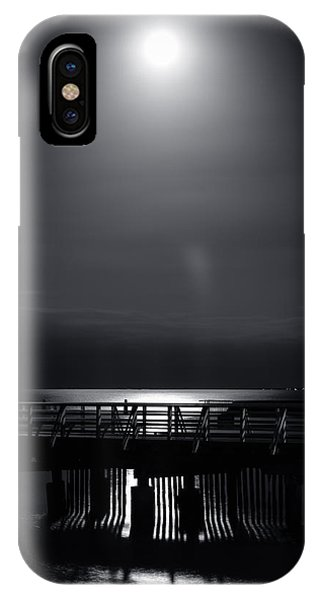 Full Moon Over Bramble Bay IPhone Case