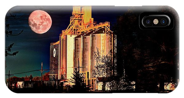 Full Moon Over Elevator IPhone Case