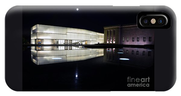 Full Moon Over Nelson Atkins Museum In Kansas City IPhone Case