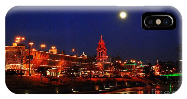 Full Moon Over Plaza Lights In Kansas City IPhone Case