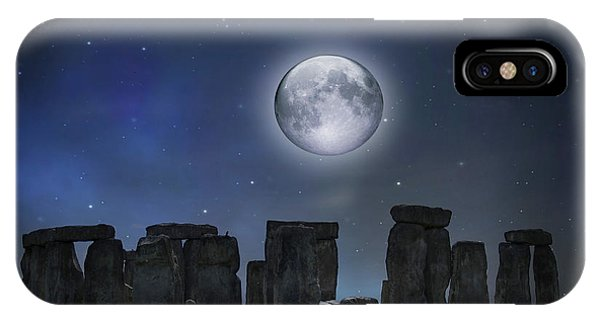 Full Moon Over Stonehenge IPhone Case