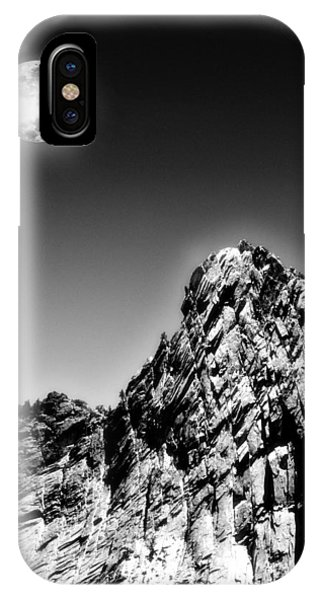 Full Moon Over The Suicide Rock IPhone Case