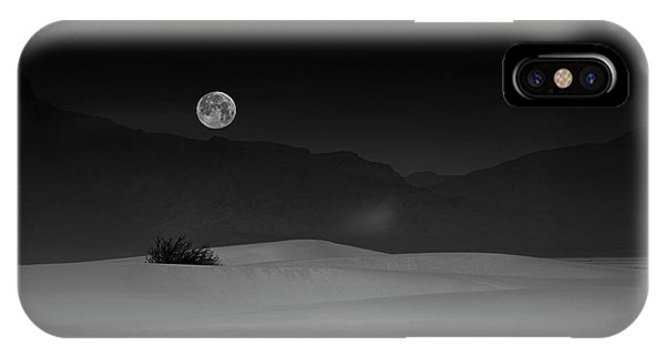 Layer iPhone Case - Full Moon Over White Sands by Lydia Jacobs