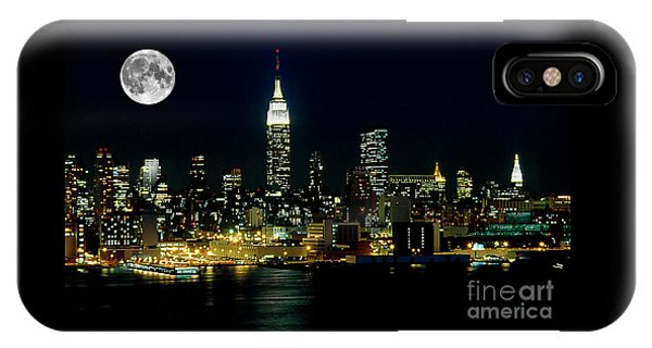 Full Moon Rising - New York City IPhone Case