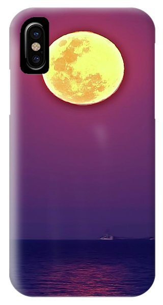 Full Moon Rising Over The Sea IPhone Case