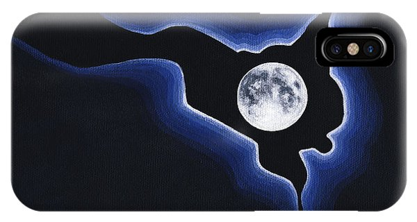 Full Moon Silver Lining IPhone Case