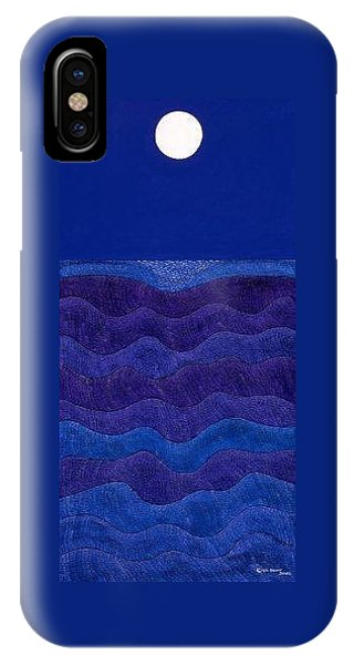 iPhone X Case - Full Moonscape II by Synthia SAINT JAMES