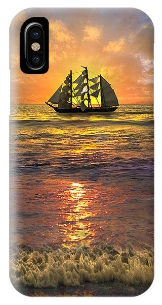 Boynton iPhone Case - Full Sail by Debra and Dave Vanderlaan