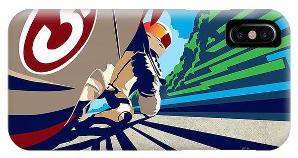 Biker iPhone Case - Full Throttle by Sassan Filsoof