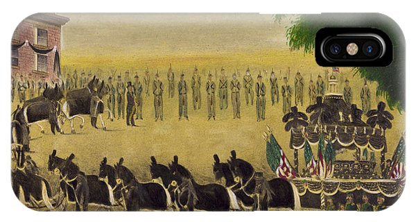 United States Presidents iPhone Case - Funeral Car Of President Lincoln Circa 1879 by Aged Pixel