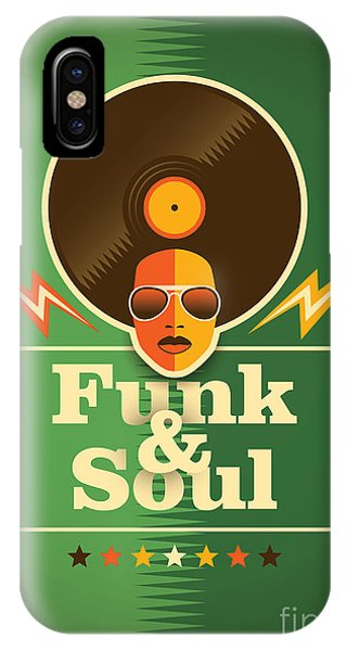 Funky iPhone Case - Funk And Soul Poster. Vector by Radoman Durkovic