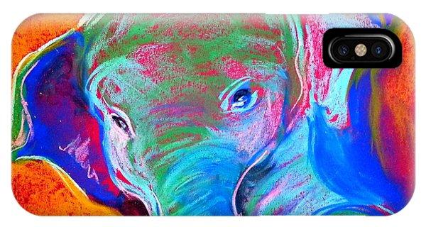 Funky Baby Elephant Blue IPhone Case