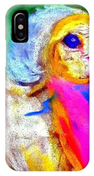 Funky Barn Owl Art Print IPhone Case