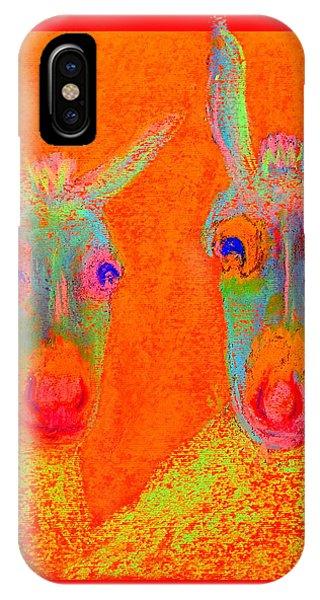 Funky Donkeys Art Prints IPhone Case