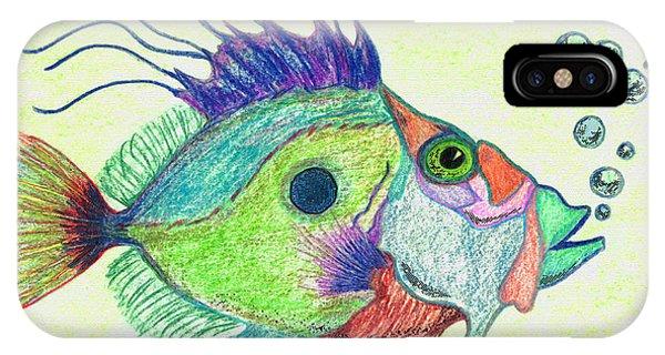Scuba Diving iPhone Case - Funky Fish Art - By Sharon Cummings by Sharon Cummings