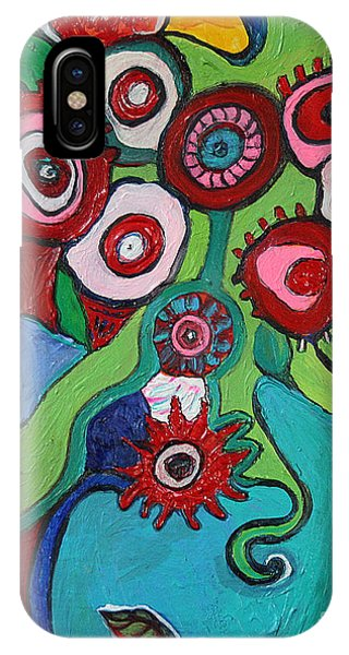 Funky Flowers And Vase IPhone Case