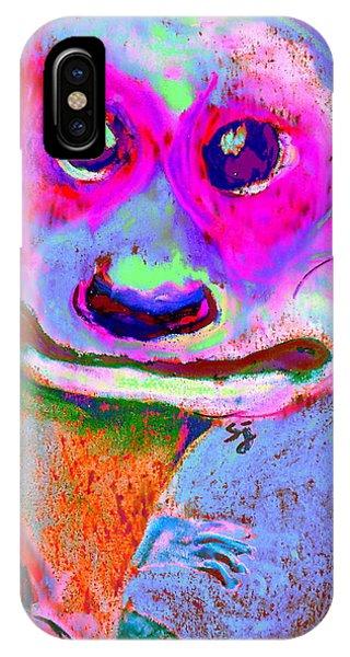 Funky Meerkat Tunnel Art Print IPhone Case