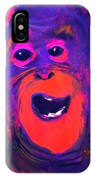 Funky Monkey Happy Chappy IPhone Case