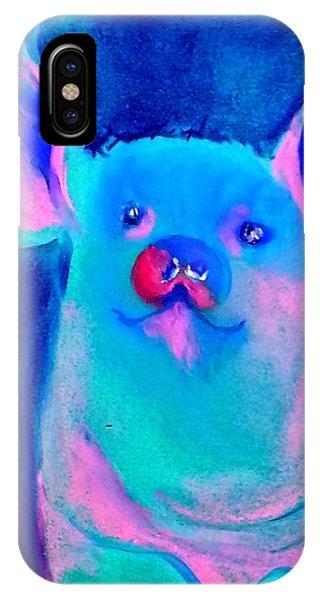Funky Piggy Blue IPhone Case
