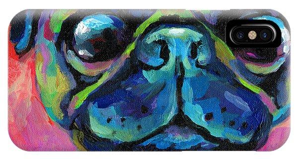 iPhone Case - Funny Bug Eyed Pug  by Svetlana Novikova
