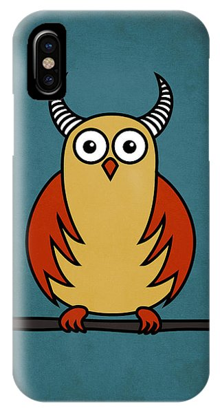 Funny Cartoon Horned Owl  IPhone Case